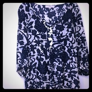Loft 3/4 sleeve top Size Small